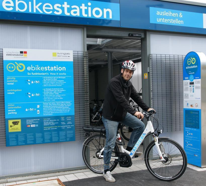 E-Bike-Station am Bahnhof Bietigheim-Bissingen | Foto: Inga Stoll