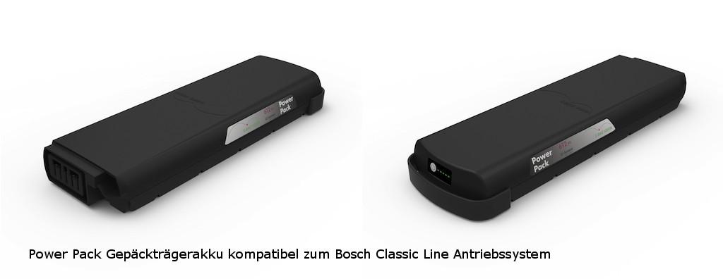 E-Bike Vision Power Pack - eBike Ersatzakku Gepäckträger