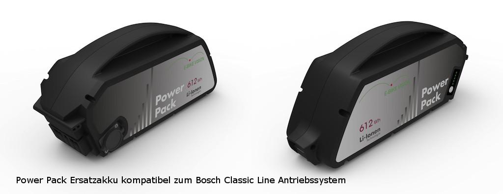 E-Bike Vision Power Pack - eBike Ersatzakku Bosch Unterrohr