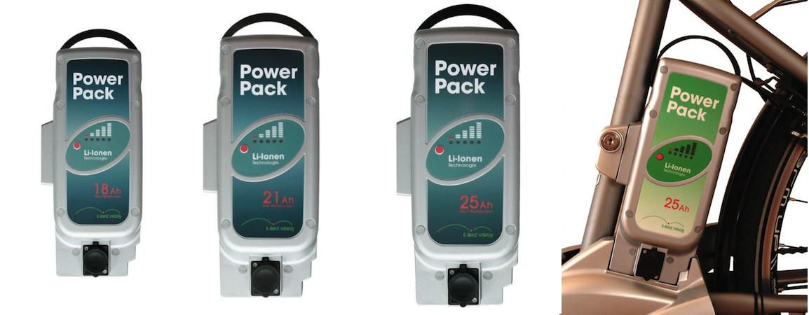 E-Bike Vision Power Pack eBike Ersatzakku Panasonic 26V