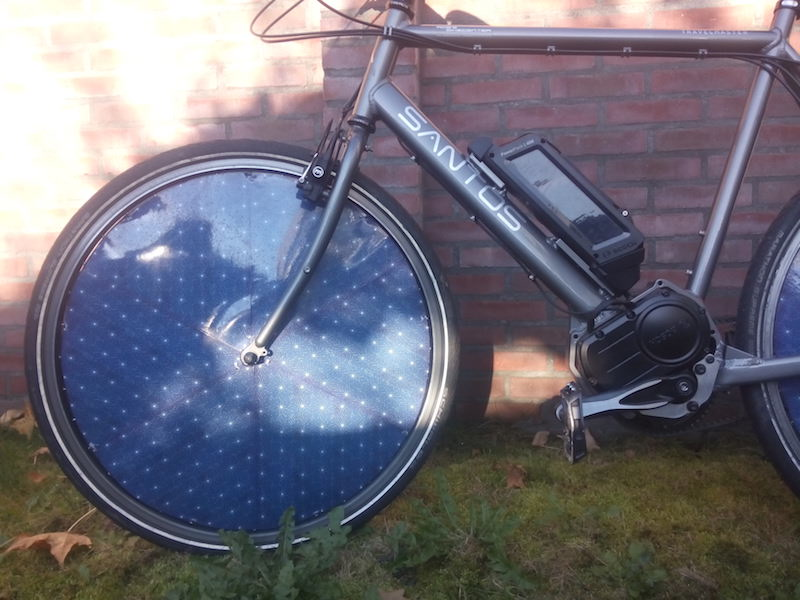 dutch solar cycle electric bike front wheel