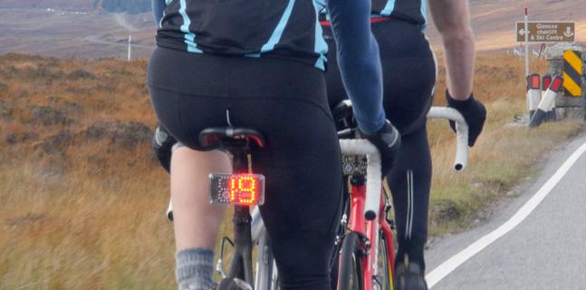 VeloCityLight Bremslicht und Geschwindigkeitsanzeige für das Fahrrad