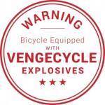 VengeCycle warning Aufkleber
