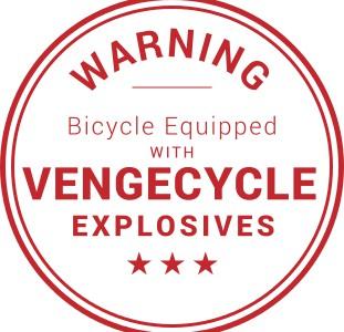VengeCycle warning Aufkleber Diebstahlschutz Fahrrad