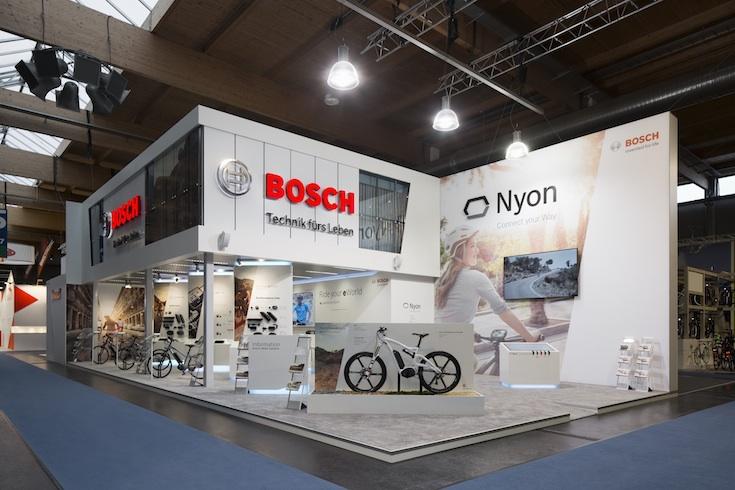 Bosch eBike System Messestand