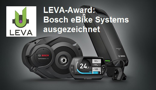 Bosch eBike LEVA Award vorschau