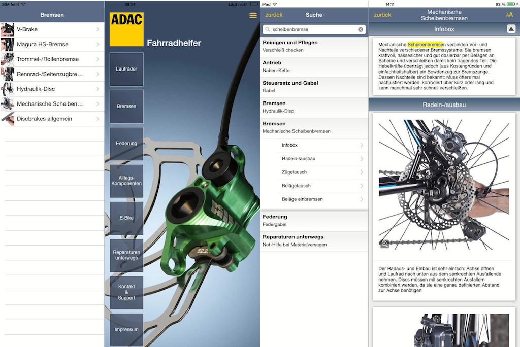 ADAC Bike App Reparaturanleitung
