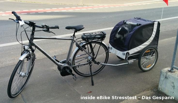 E-Bike Vision Ersatzakku Stresstest - das Gespann