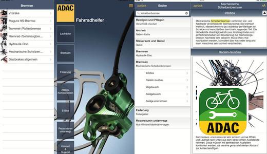 Vorschau ADAC Bike Reparatur App