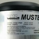 Muster BMZ eBike Range Extender Etikett