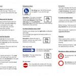 Verkehrsregeln für Radfahrer englisch