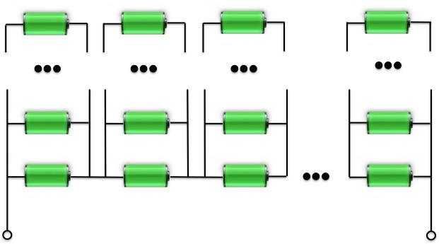 Batteriepack - Serienschaltung und Reihenschaltung als Matrix