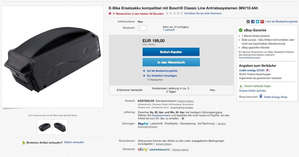 Angebot eBay Ersatzakku - Gehäusedesign