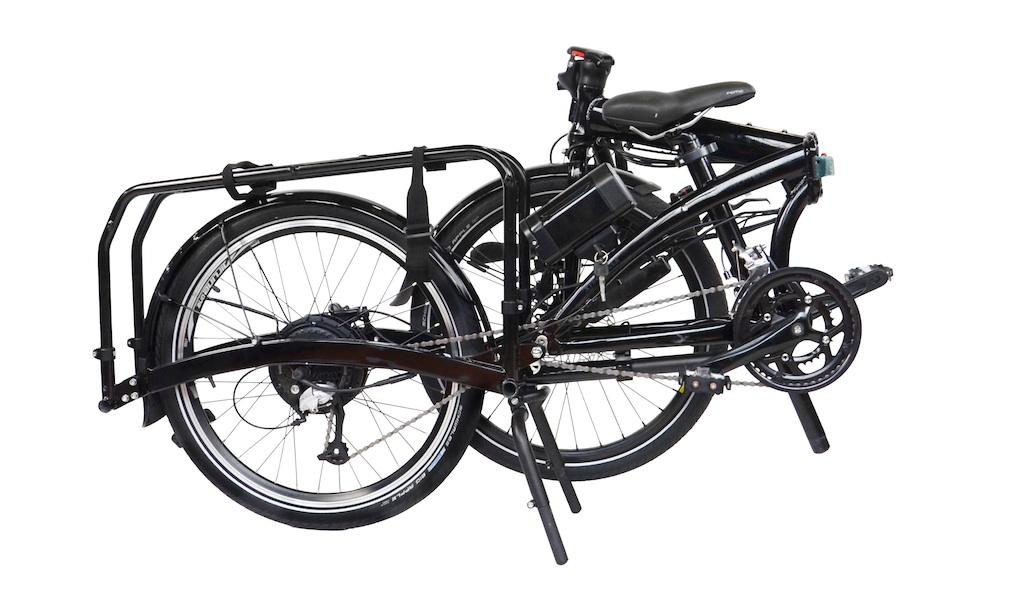Tern eCargo Node - komplett gefaltet - elektrisches Lasten-Faltrad