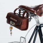 Detail Sattel und Satteltasche - velocipede-fogliaverde web