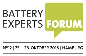 12. BATTERY EXPERTS FORUM in Hamburg