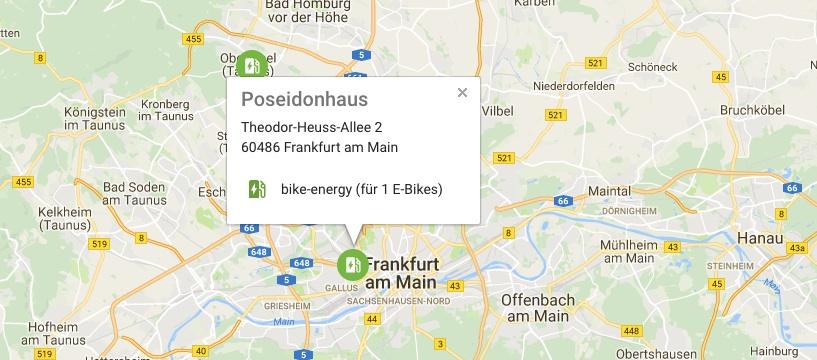 fahrrad.de: eBike Ladestation im Frankfurter Raum