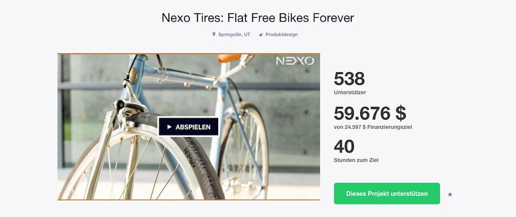 NEXO TIRES - Kickstarter Kampagne