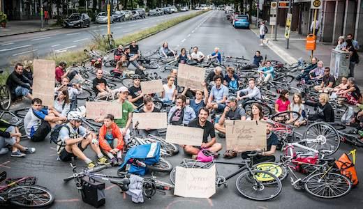 Vorschau Sit-in Volksentscheid Fahrrad