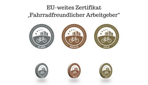 "EU-weites Zertifikat ""Fahrradfreundlicher Arbeitgeber"""