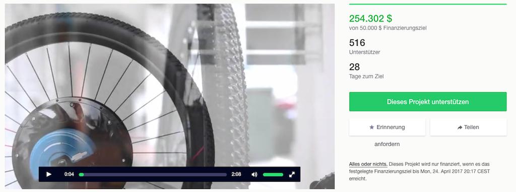 Kickstarter Kampagne von UrbanX