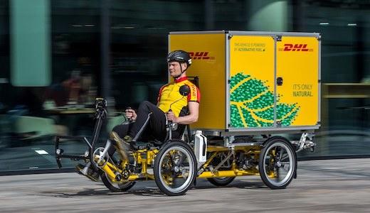 Vorschau DHL Lastenrad eBike cubicycle